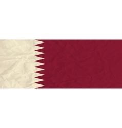 Qatar paper flag vector image