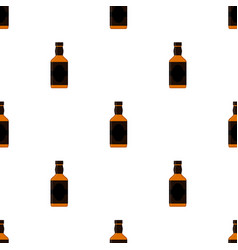 rum bottles pattern whiskey brandy liquor rum for vector image