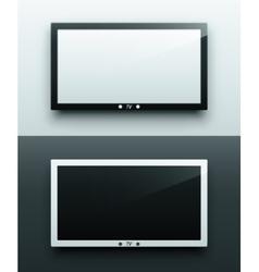 TV screen hanging vector image vector image