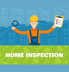 A of home inspector in front vector