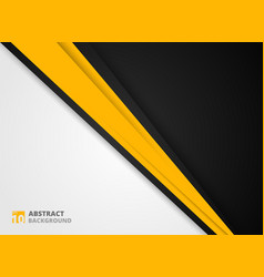 Abstract of modern yellow black and white vector