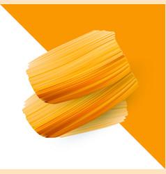 Abstract orange brush stroke background vector