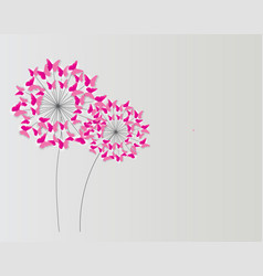 abstract paper cut out butterfly flower background vector image