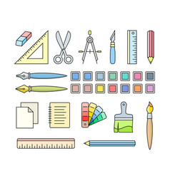 Art and office supplies vector