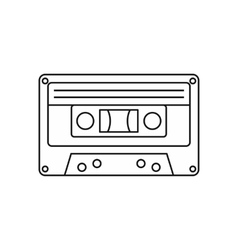 Audio cassette icon outline style vector image