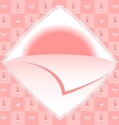 Baby girl born card vector