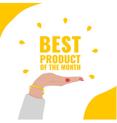 Banner for review on the best product of the month vector
