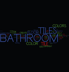 Bathroom towel bars and accessories text vector