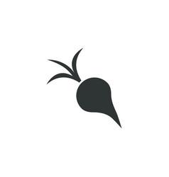 beet or radish icon simple gardening element vector image