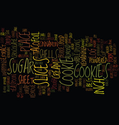 best recipes taco cookies text background word vector image