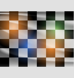 black and white racing flag vector image