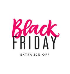 black friday sale web banner background vector image
