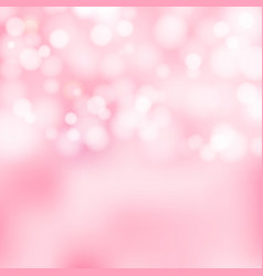 Bokeh pink and white sparkling lights festive vector