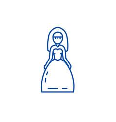 bride sign line icon concept bride sign flat vector image