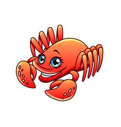 cartoon crab isolated vector image
