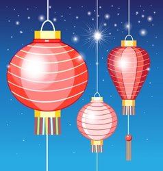Chinese lanterns vector image