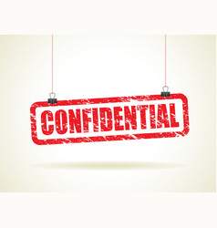 confidential red vector image
