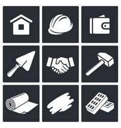 Construction and home repair icons set vector image