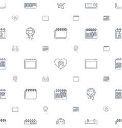 Date icons pattern seamless white background vector