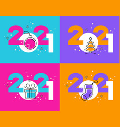 design new year 2021 vector image