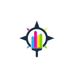 direction paint logo icon design vector image