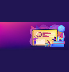 distance learning concept banner header vector image