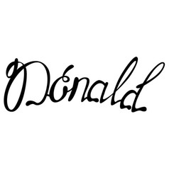 Donald name lettering vector