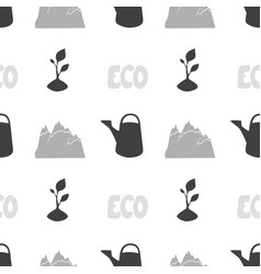 Eco food seamless pattern vector