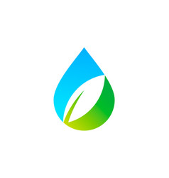 Eco water logo icon design vector