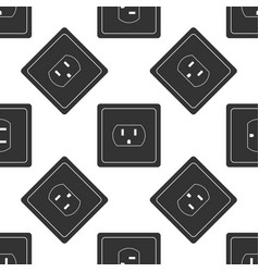 electrical outlet in the usa icon seamless pattern vector image