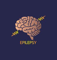 epilepsy logo icon vector image