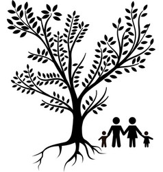 Family tree black vector
