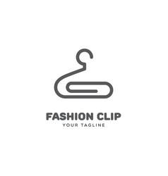 fashion clip logo vector image
