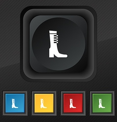 female fall and winter shoe boot icon symbol Set vector image