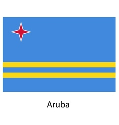 Flag of the country aruba vector image