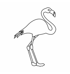 Flamingo icon outline style vector image