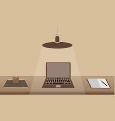 flat design modern concept creative office vector image