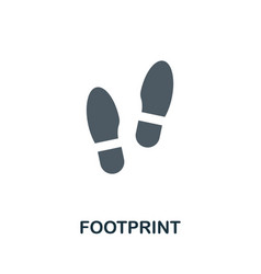 Footprint icon flat sign element from law vector