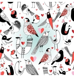 Graphic pattern in love birds vector
