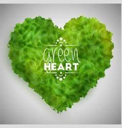 green leaves heart vector image