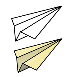 Hand drawn paper airplane vector
