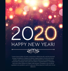 happy new 2020 year party poster template vector image