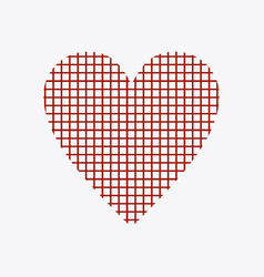 Heart of squares vector