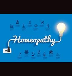 Homeopathy ideas concept creative light bulb vector