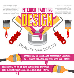house repair and painting service poster design vector image