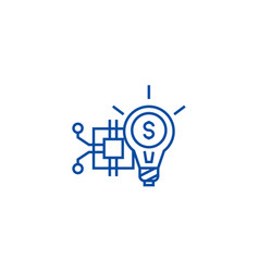 innovation technology line icon concept vector image