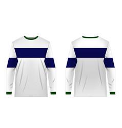 jersey design templates vector image