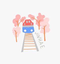 Jinhae gunhangje festival doodle flat vector
