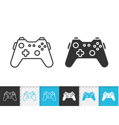 joystick simple black line icon vector image