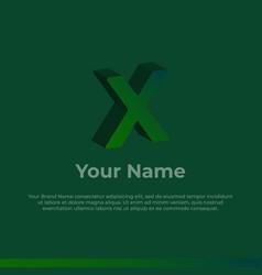 Logotype alphabet 3d logo letter x monogram logo vector
